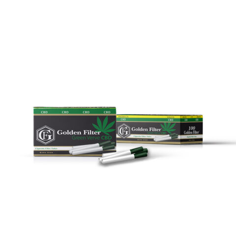 gilzy papierosowe do jointów GOLDEN FILTER GREEN VERVE CBD 115
