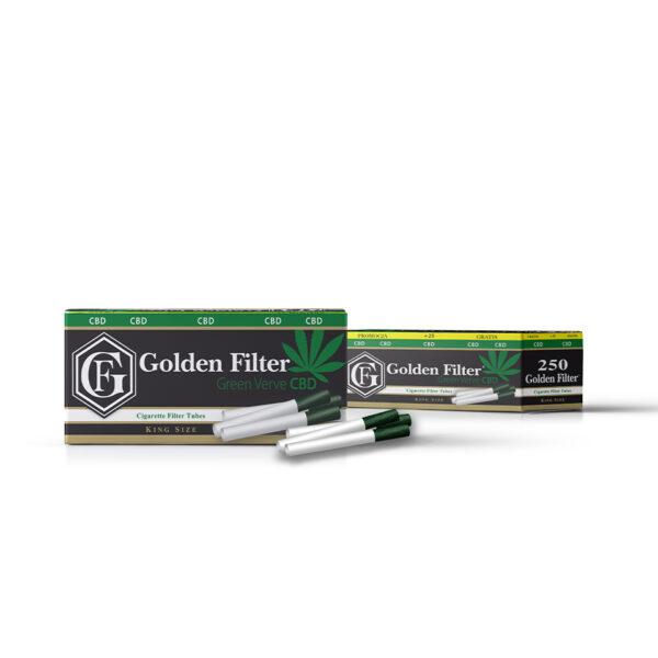 gilzy papierosowe cbd GOLDEN FILTER GREEN VERVE CBD 275