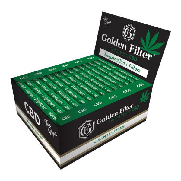 bibułki GOLDEN FILTER GREEN VERVE CBD KSS+FILTR